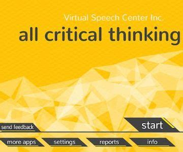 Comment on the importance of critical thinking skills for academic success